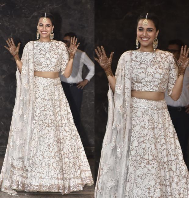 Swara Bhasker at Sonam Kapoor's Mehendi and Sangeet ceremony
