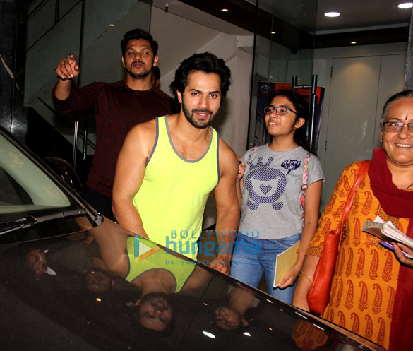 Varun Dhawan spotted at gym Khar