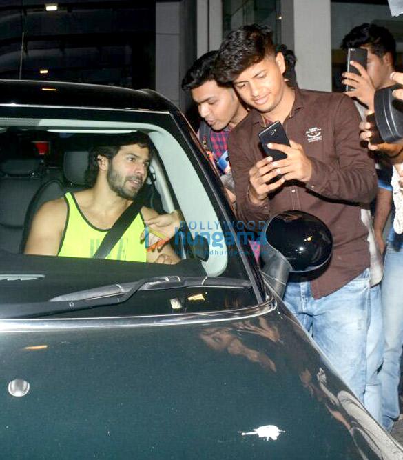 Varun Dhawan spotted at gym in Bandra
