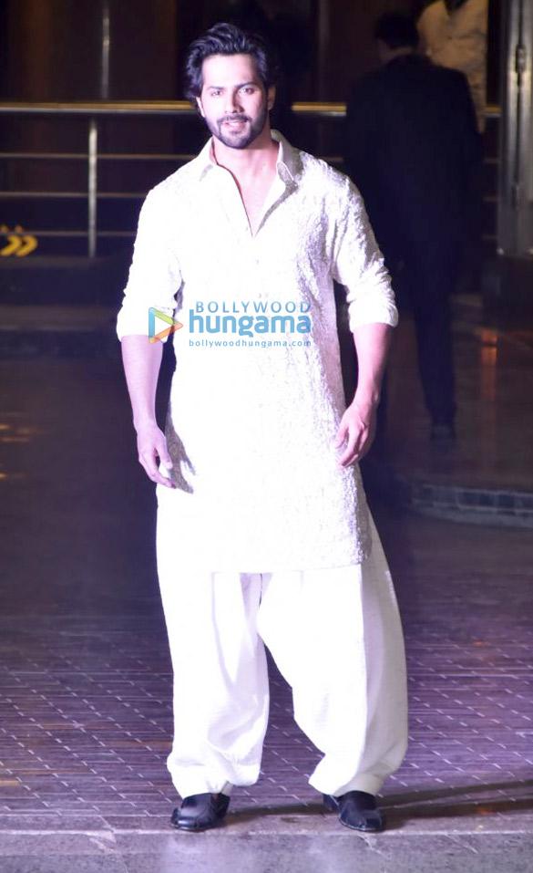 Varun Dhawan at Sonam Kapoor and Anand Ahuja mehendi and sangeet