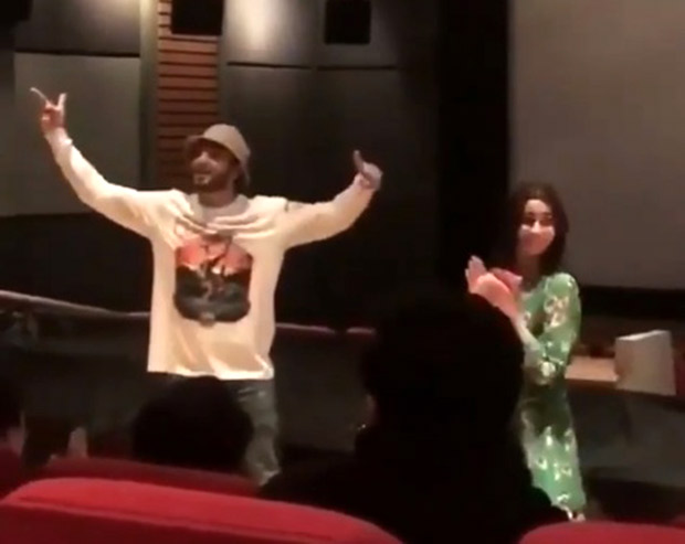 WATCH: Ranveer Singh impromptu 'Mere Gully Mein' rap at Alia Bhatt starrer Raazi screening is not to be missed