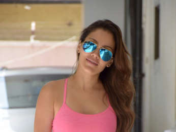 Waluscha De Sousa was spotted today outside T-Series office