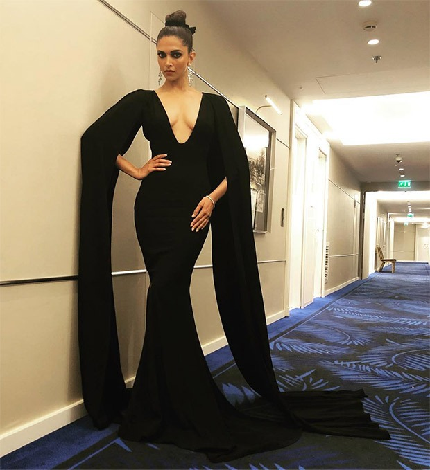 Deepika Padukone in Marcell Von Berlin black gown for Chopard party in Cannes