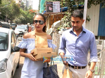 Amrita Arora snapped with her husband
