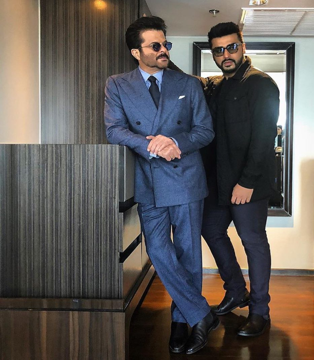 Anil Kapoor and Arjun Kapoor at IIFA Press Con 2018