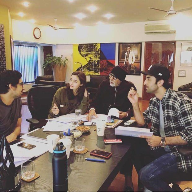 BRAHMASTRA: Ranbir Kapoor, Alia Bhatt, Amitabh Bachchan meet up for a prep session [see pic]
