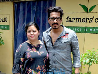 Bharti Singh, Haarsh Limbachiyaa spotted outside a cafe in Bandra