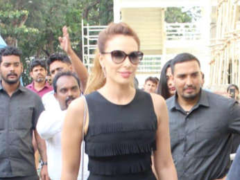 Cast of Race 3 arrive for the launch of the track 'Allah Duhai Hai'