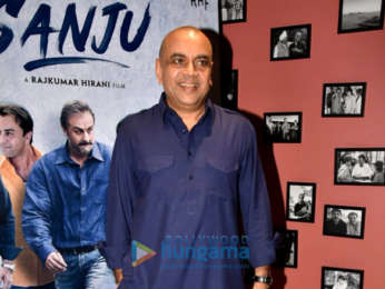 Cast of Sanju snapped during media interviews