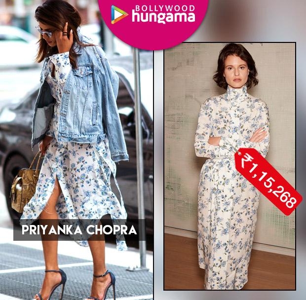 Celebrity Splurges - Priyanka Chopra floral dress