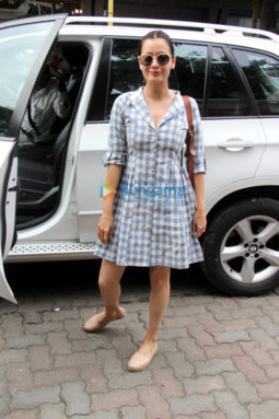 Dia Mirza spotted at a salon in Bandra