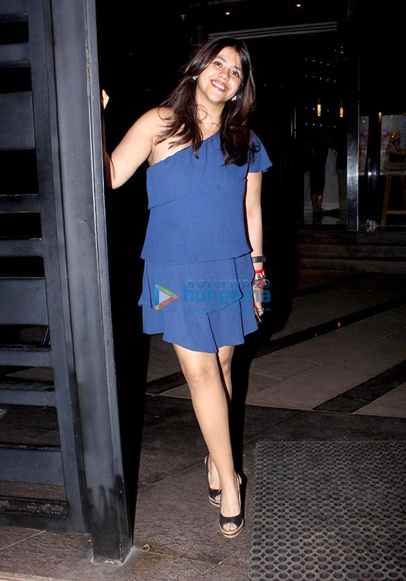 Ekta Kapoor snapped celebrating her birthday with family at Yauatcha in BKC