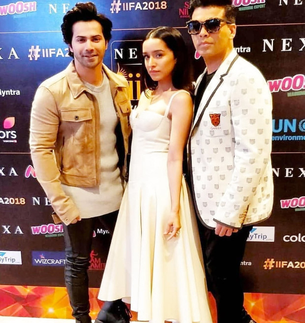 IIFA-Press-Con-2018 Karan Johar and Varun Dhawan