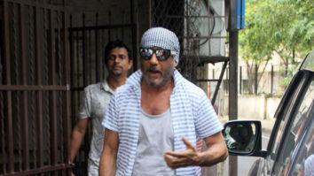 Jackie Shroff snapped at Shankar Mahadevan's dubbing studio in Mumbai