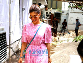 Jacqueline Fernandez snapped attending an event for Voot in Bandra