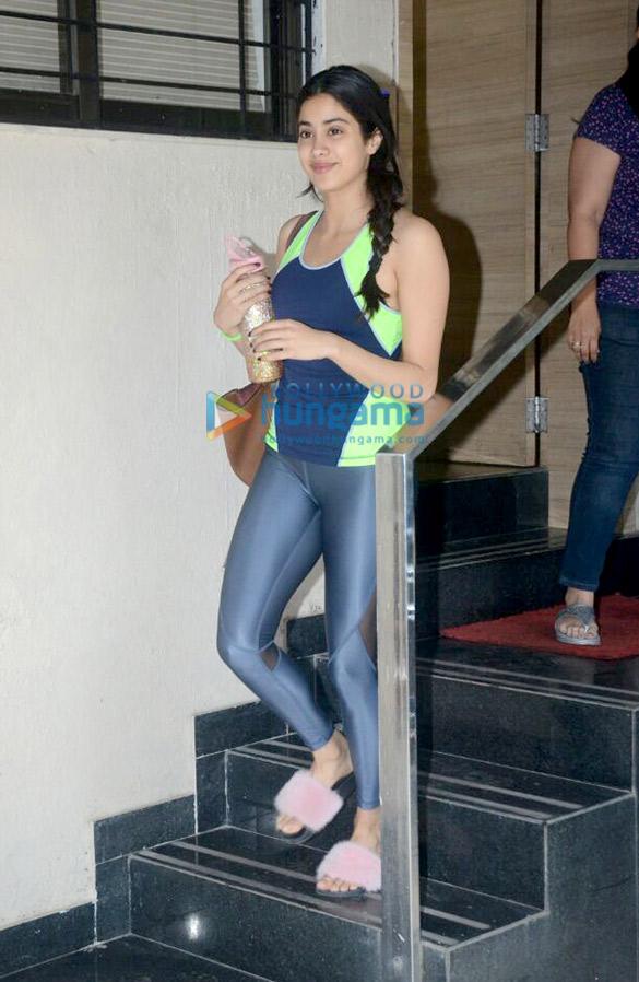 Janhvi Kapoor snappd at the Matrix office in Bandra