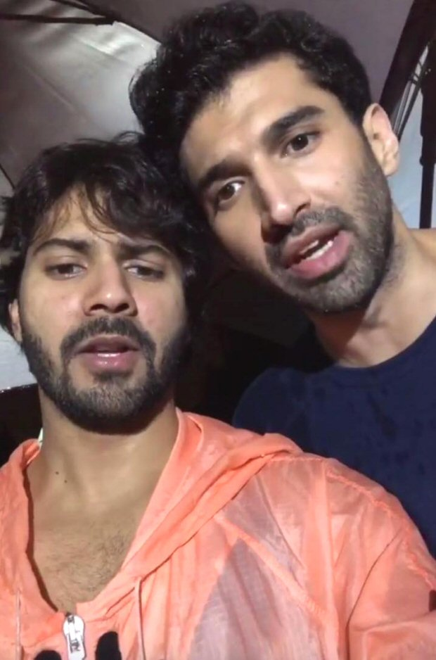KALANK: Varun Dhawan, Aditya Roy Kapur urge Karan Johar to save them as shooting gets halted due to unexpected rains