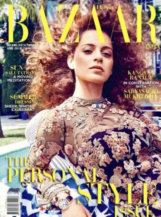 Kangana Ranaut On The Cover Of Harper's Bazaar, June 2018