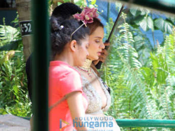 Kangana Ranaut snapped at the location of her film