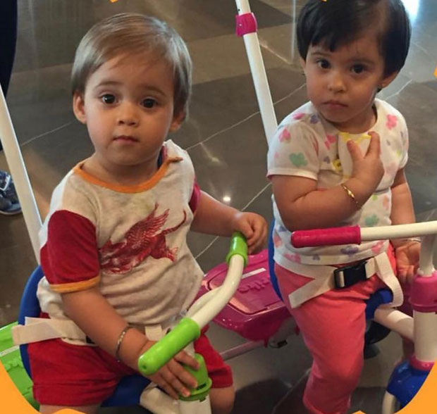 Karan Johar's munchkins Yash and Roohi love being photographed, this new snap proves it
