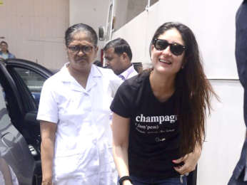Kareena Kapoor Khan snapped with Taimur Ali Khan at Mehboob Studio