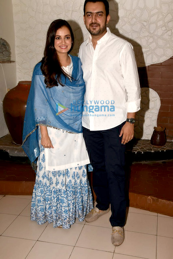 Konkona Sen Sharma, Shankar Mahadevan snapped at Eid Party