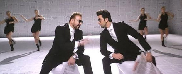 LEAKED PHOTO! Sanjay Dutt and Ranbir Kapoor look dapper in the Sanju promotional song