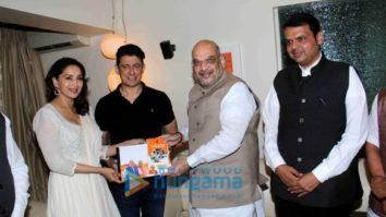 Madhuri Dixit snapped meeting Amit Shah