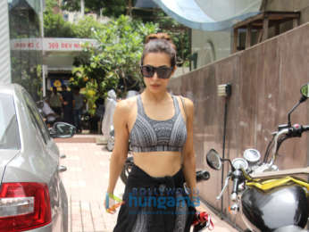 Malaika Arora snapped outside the gym
