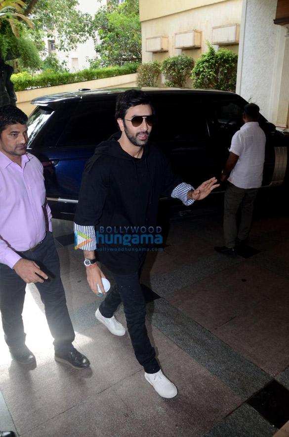Ranbir Kapoor spotted at Sanju promotions in Bandra