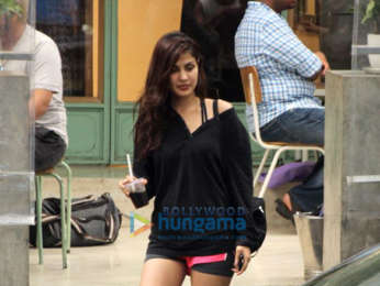 Rhea Chakraborty spotted at the Kitchen Garden