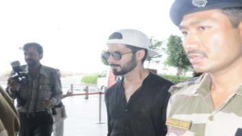 Shahid Kapoor snapped leaving to attend the IIFA awards