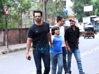 Sonu Sood snapped with his son in Juhu