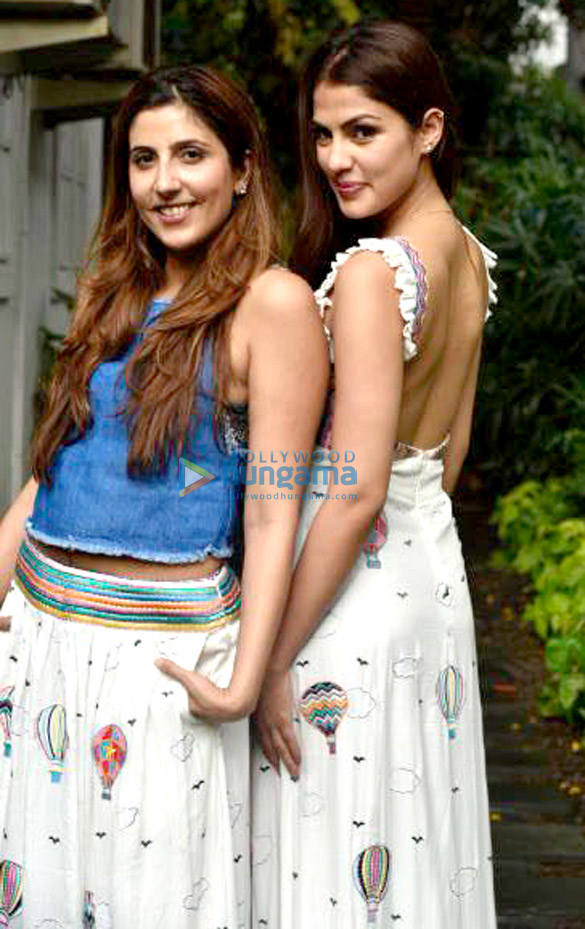 Tanisha Mukerji and Rhea Chakraborty snapped at the Simply Simone label launch