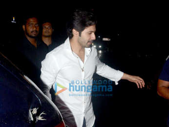 Varun Dhawan and Natasha Dalal snapped at Koko in Lower Parel