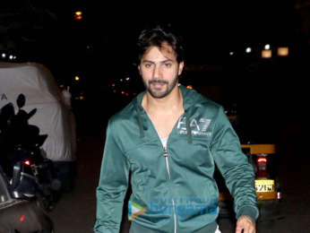 Varun Dhwan spotted outside gym in Khar