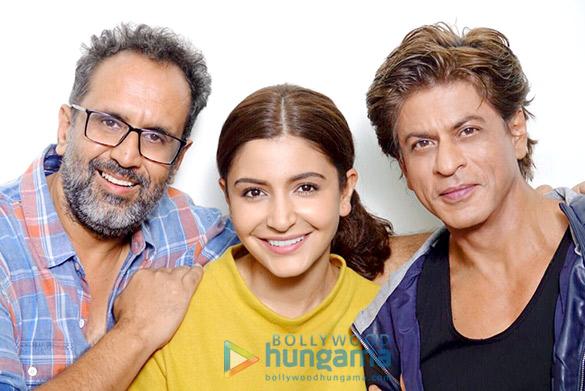 Anushka Sharma celebrates ZERO WRAP UP with her wonderful people Shah Rukh Khan and Aanand L Rai