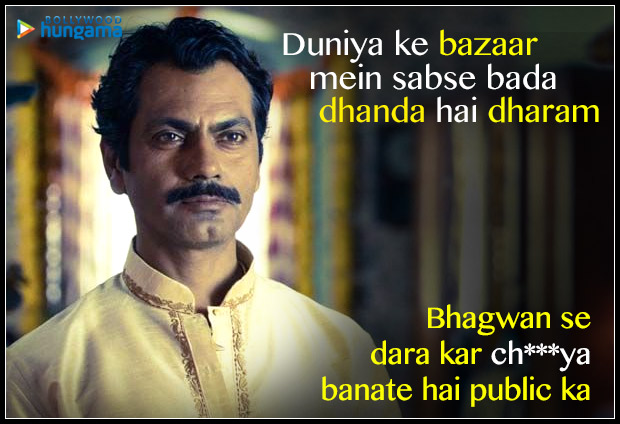 10 DIALOGUES from Saif Ali Khan - Nawazuddin Siddiqui starrer Sacred Games that are APPLAUDWORTHY