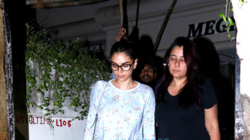 Aditi Rao Hydari and Huma Qureshi spotted at Srishti Arya's home in Juhu