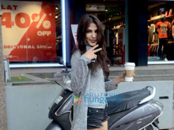 Aditya Roy Kapur and Rhea Chakraborty snapped at Ramesh Taurani's office at Khar
