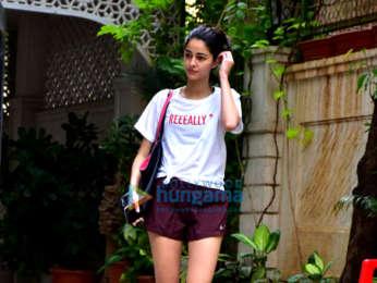 Ananya Pandey snapped at the gym