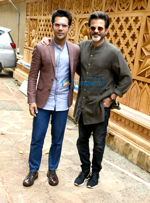 Anil Kapoor and Rajkummar Rao snapped promoting Fanney Khan