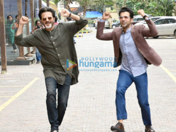 Anil Kapoor and Rajkummar Rao snapped promoting Fanney Khan