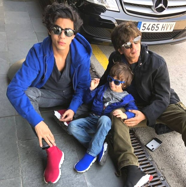 Aryan Khan chills with little bro AbRam; Suhana Khan gives a sweet kiss to dad Shah Rukh Khan during Barcelona vacation