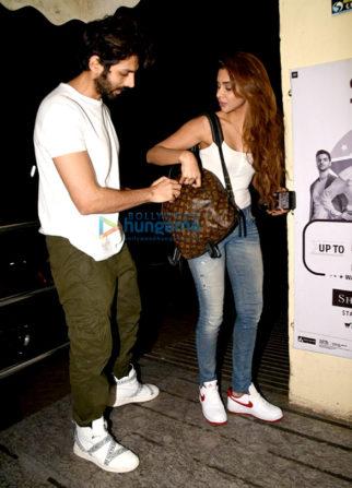 Ekta Kapoor and Kartik Aaryan snapped in Juhu