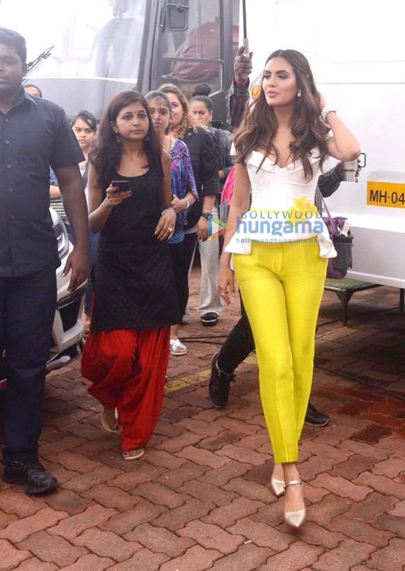 Esha Gupta snapped at Film City