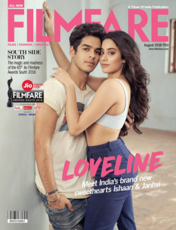Ishaan Khatter and Janhvi Kapoor On The Cover Of Filmfare, August 2018