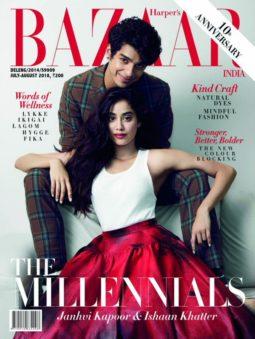 Ishaan Khatter, Janhvi Kapoor On The Cover Of Harper's Bazaar