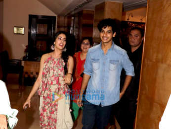 Ishaan Khatter and Janhvi Kapoor promote Dhadak at Sun N Sand hotel