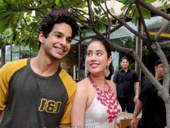 Janhvi Kapoor and Ishaan Khatter are all smiles while promoting their film Dhadak